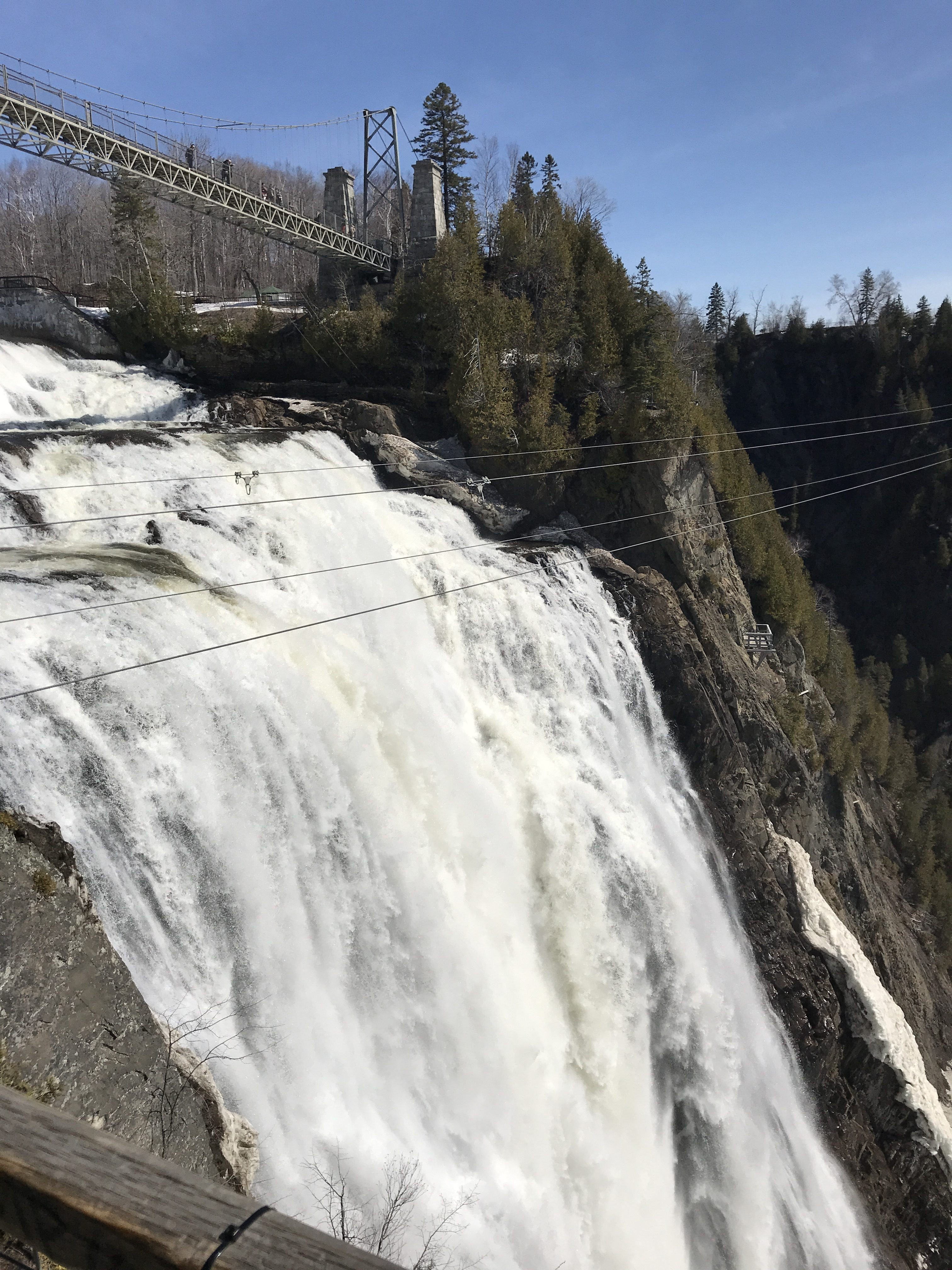 Montmorency Falls in Quebec City, Canada.
