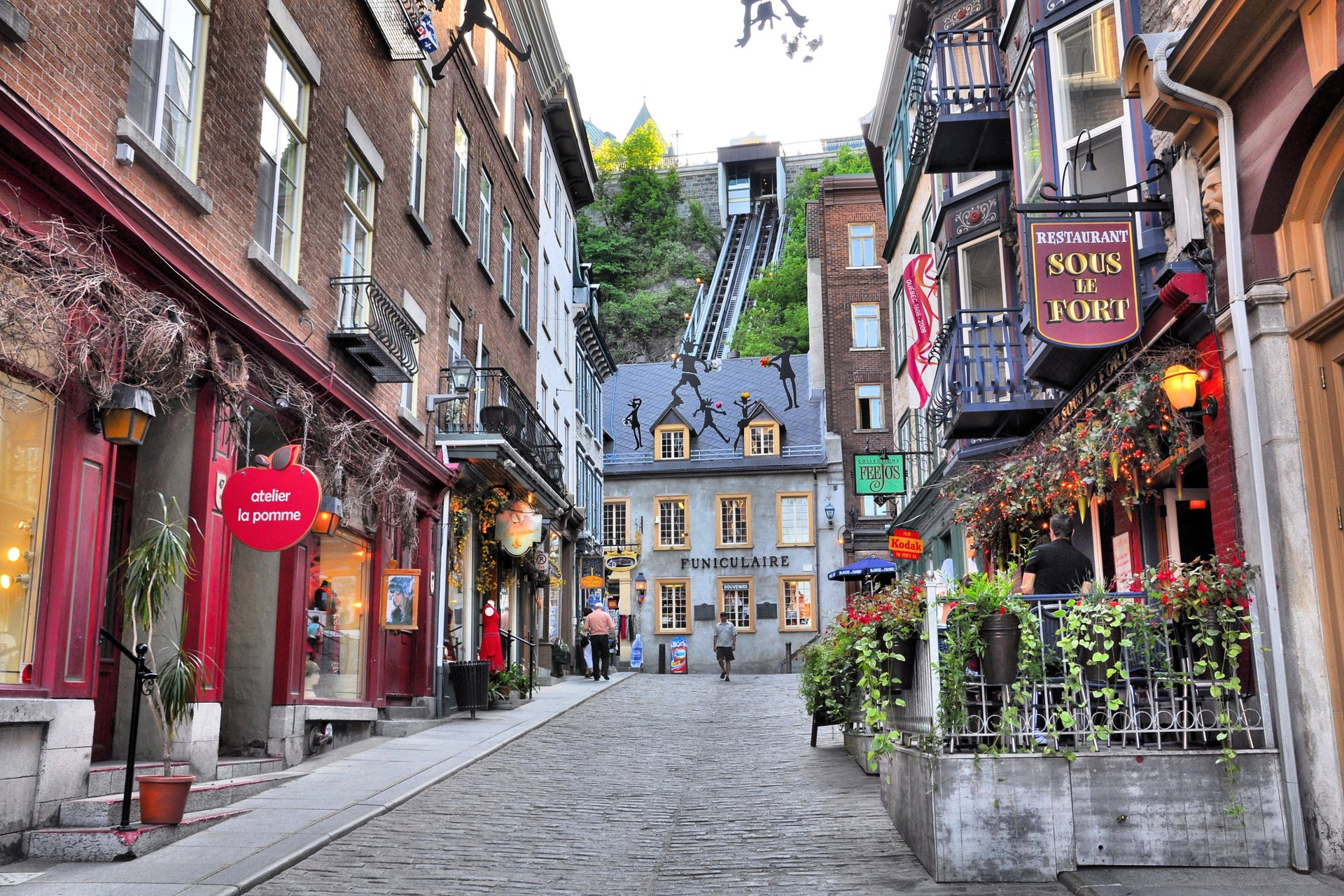 Rue de Petit Champlain in Quebec City, Canada.