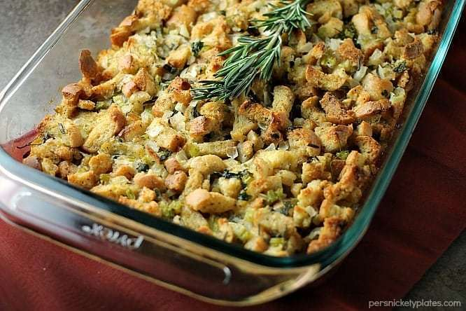 It's not Thanksgiving without traditional stuffing - vegetarian style.