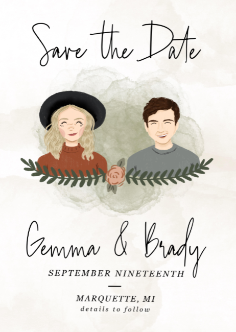 Save the Date illustration fueled by creative inspiration