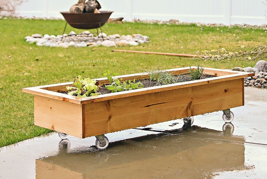 DIY Rolling planter box