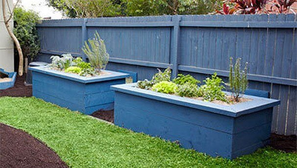 Timber raised garden beds