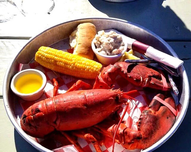 A fresh monster lobster dinner from The Bait Shed Restaurant.