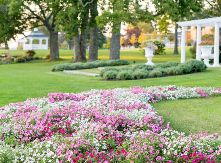Pineland Farm Gardens - a beautiful public garden in Maine.