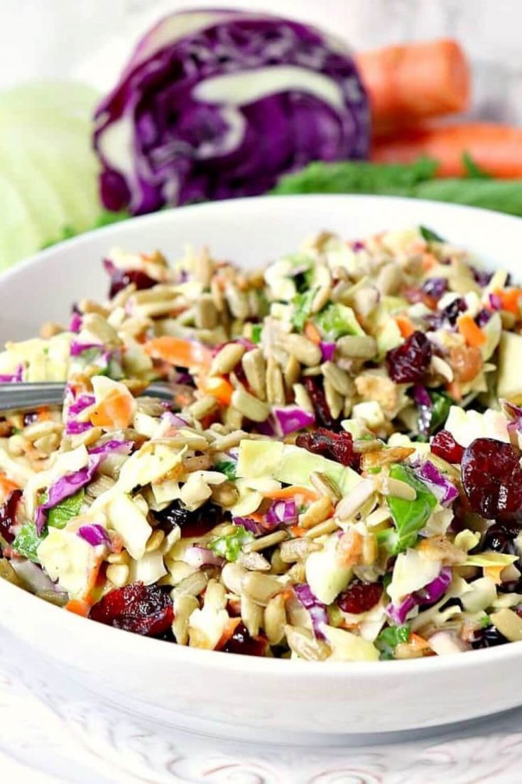 A delicious bowl of make-ahead sunflower crunch salad.