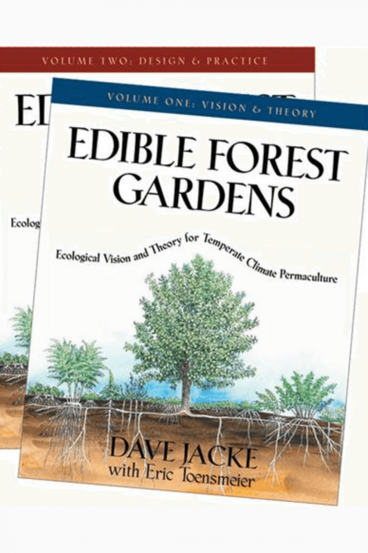 The book covers of Edible Forest Gardens volum one and two.