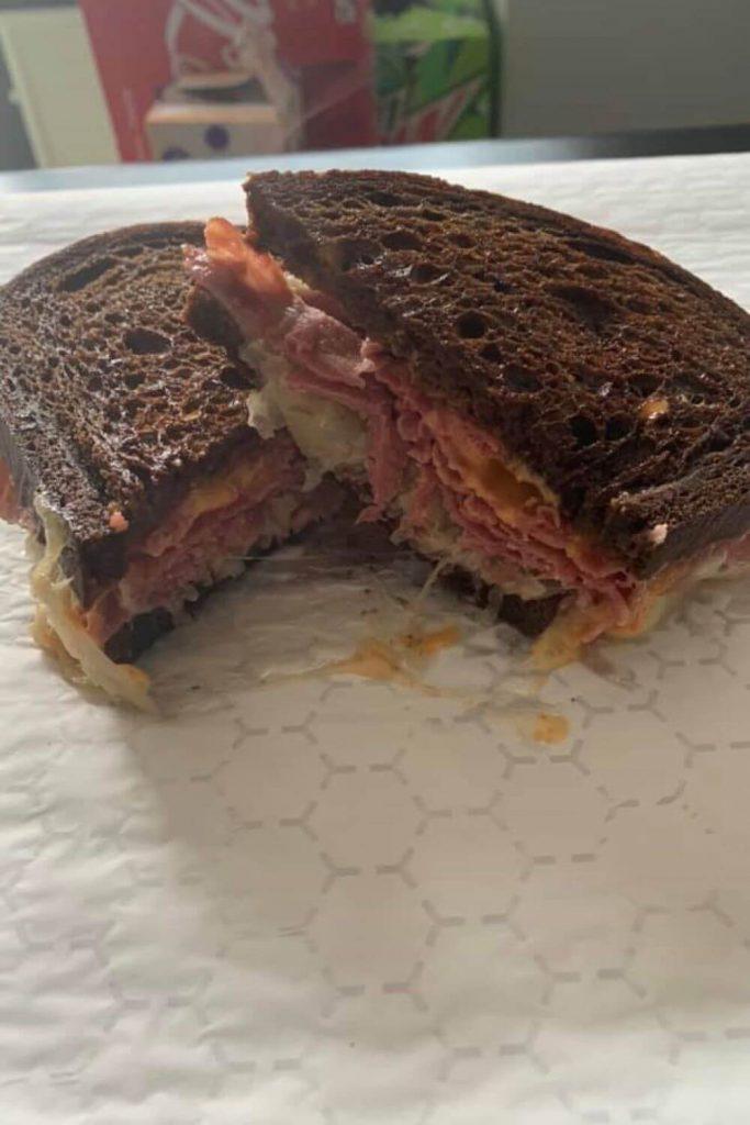 A reuben sandwich on rye bread from Rotations Deli in Marquette, Mi.