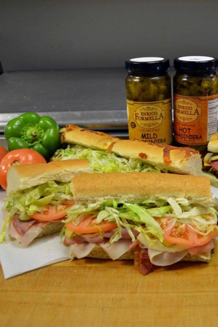 Several delicious sub sandwiches from Togo's in Marquette, Mi.