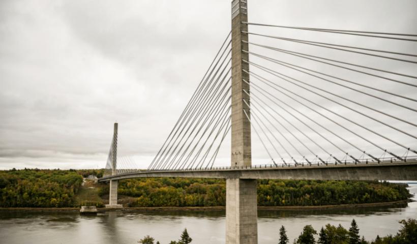 The Penobscot Narrows Bridge located near Bangor, Maine.